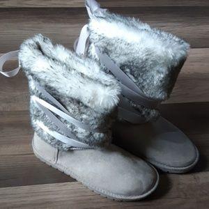 Big Sky Fuzzie JustFab Boots Size 8